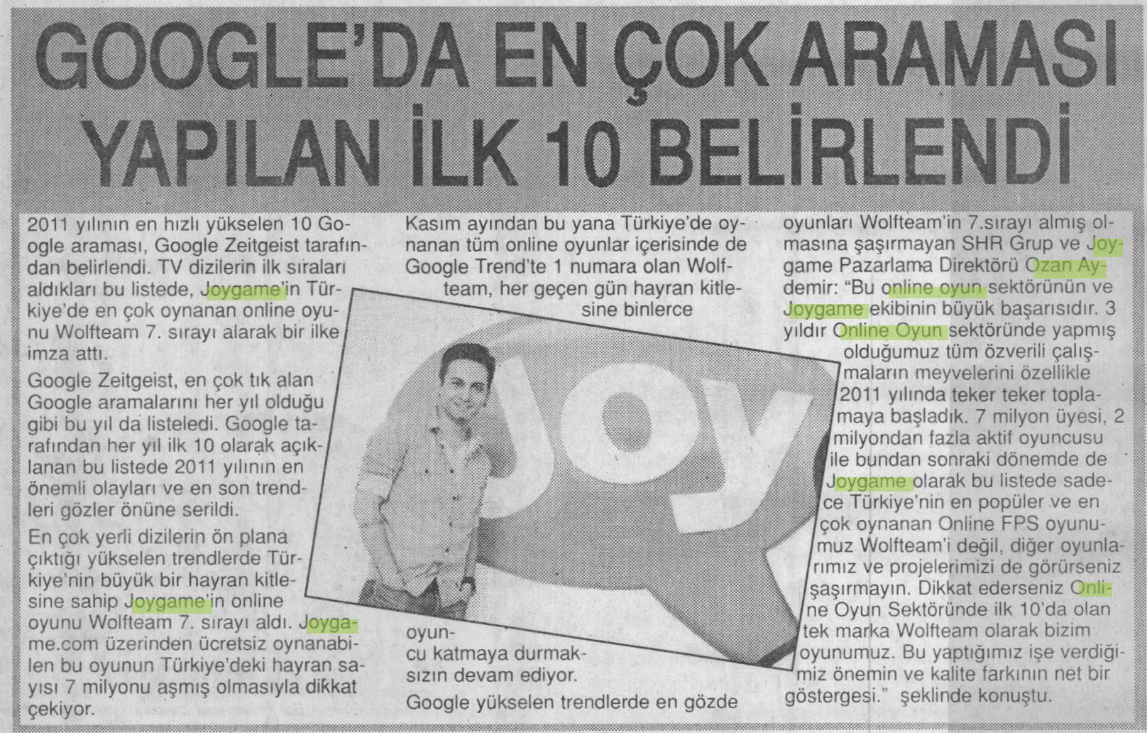 Netmarble-Turkey-Basin-Yansimasi-Son-Saat-Gazetesi-25-Aralik-2011-1