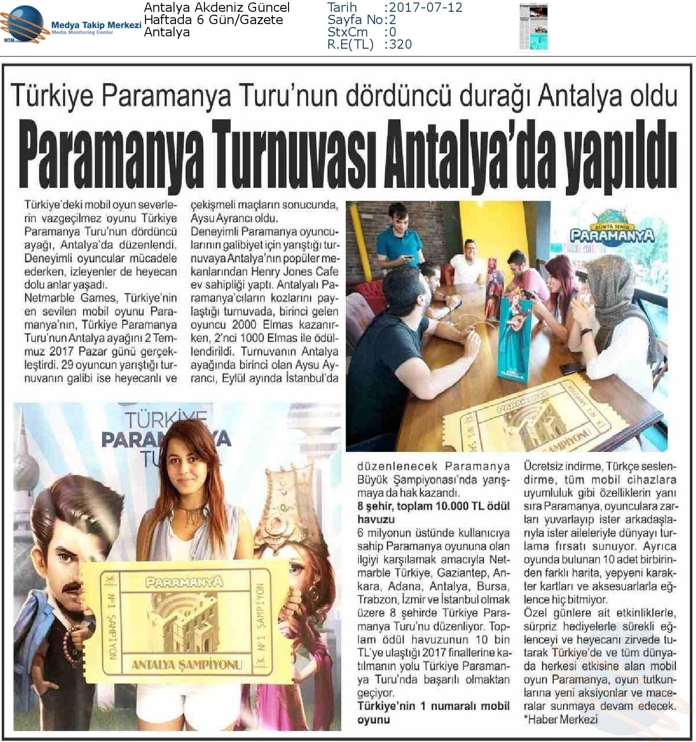 Antalya_Akdeniz_Güncel-PARAMANYA_TURNUVASI_ANTALYADA_YAPILDI-12.07.2017