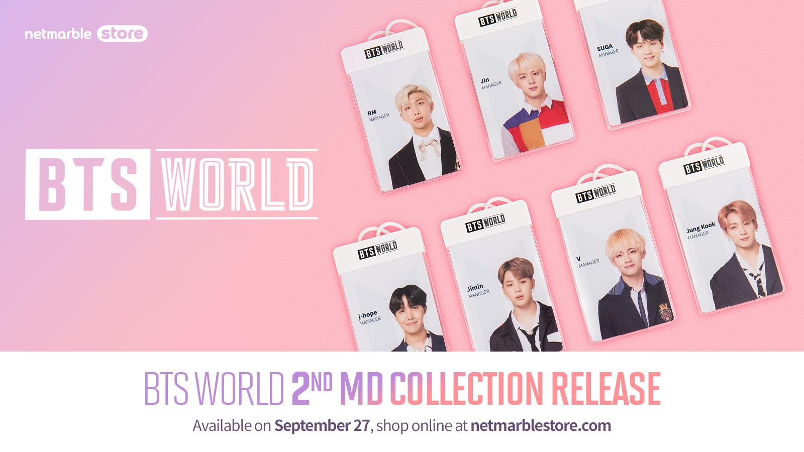 BTS World Koleksiyon Ürünleri Netmarble İnternet Mağazasında Satışa Çıkıyor