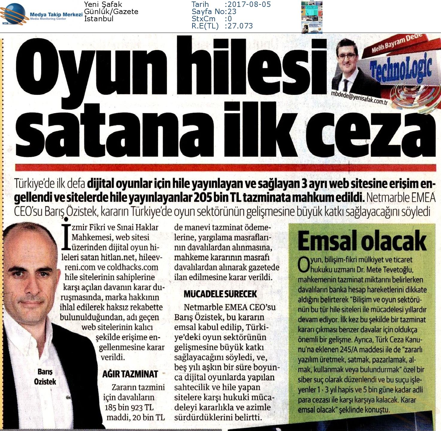 Yeni_Şafak-OYUN_HİLESİ_SATANA_İLK_CEZA_EMSAL_OLACAK-05.08.2017-2