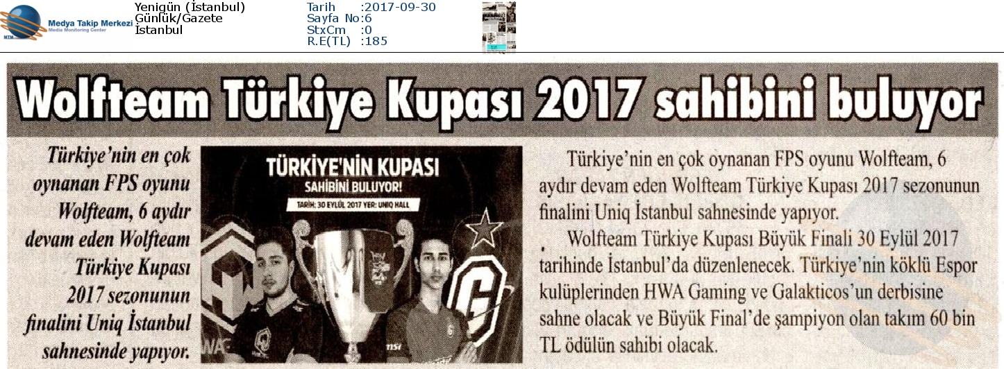 Yenigün_İstanbul-WOLFTEAM_TÜRKİYE_KUPASI_2017_SAHİBİNİ_BULUYOR-30.09.2017-1