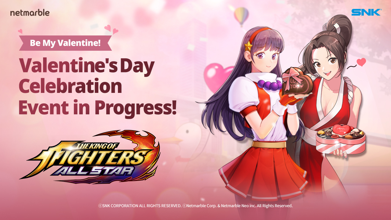 CUPID HITS THE KING OF FIGHTERS ALLSTAR WITH SPECIAL VALENTINE'S DAY HOLIDAY UPDATE