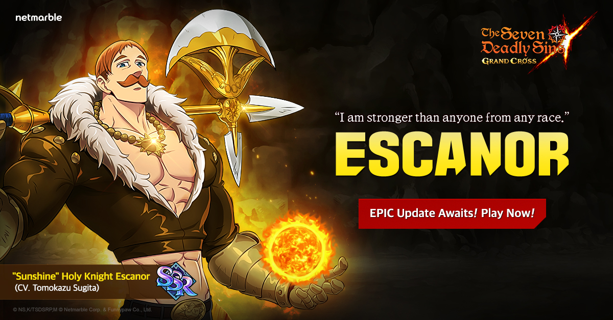 THE HOLY KNIGHT ESCANOR SHINES BRIGHT IN ALL-NEW UPDATE FOR THE SEVEN DEADLY SINS: GRAND CROSS